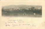 07 Joyeuse, Cp Pionnière (avant 1904) Vue Générale, 2 Hommes Au 1er Plan - Joyeuse