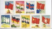 Vlaggen Serie Van Faam Pepermunt-rollen, India, Nationalistisch China, Rood China, Triëst, Tunesië, IJsland, Syrië, - Reclame