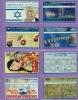 Israel  Lot  --  Feuillet  * A *  Indivisible  Avec  Ses  8  Télécartes  De  L'Etat  Hébreu. - Israel
