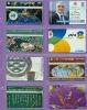 Israel  Lot  --  Feuillet  * C *  Indivisible  Avec  Ses  8  Télécartes  De  L´Etat  Hébreu. - Israel