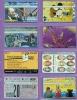 Israel  Lot  --  Feuillet  * D *  Indivisible  Avec  Ses  8  Télécartes  De  L´Etat  Hébreu. - Israel