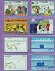 Israel  Lot  --  Feuillet  * E *  Indivisible  Avec  Ses  8  Télécartes  De  L´Etat  Hébreu. - Israel