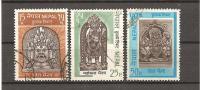 NEPAL (1971) Michel N. 262 - 264 Shiwa Cpl. Set - Népal