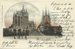 AK Erfurt Dom & Severikirche Farblitho 1902 #01 - Erfurt