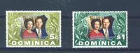 DOMINICA  -  1972  Silver Wedding  UM - Dominica (1978-...)