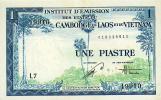 Indochina, Pick Nr. 105, Sign. 21, 1 Piastre, RARE ! - Indochina