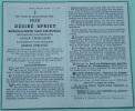Bidprentje  Désiré Spriet Burgemeester Van Zwevezele  Geboren Te  Zwevezele 1870 Overleden 1945  (2 Sans ) - Religion & Esotérisme