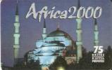 TARJETA DE FRANCIA CON UNA MEZQUITA  AFRICA 2000 - Francia