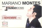 MARIANO MONTES NUEVO DISCO TANGO DOSIS JUEVES 3 NOVIEMBRE 2011 CAFE VELMA PALERMO HOLLYWOOD EMANCIPACION QUINTETO - Musique Et Musiciens