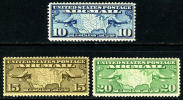 US C7-9 Mint Never Hinged Airmail Set From 1926-27 - Air Mail