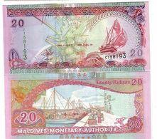 MALDIVES 20 RUFIYAA 2000 P 20 UNC - Maldive