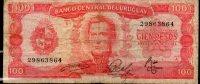 27 URUGUAY -1967 Billetes Emitidos  Por El Bco Central Por  100.00 PesosSerie  A  (Ver Foto) - Uruguay