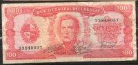 30 URUGUAY -1967 Billetes Emitidos  Por El Bco Central Por  100.00 PesosSerie  A  (Ver Foto) - Uruguay