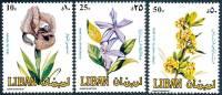 LEBANON 1984 FLOWERS  SC# 482-84 VF MNH - Lebanon