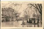 CP 84 AVIGNON Inondations(seconde Crue)24/12/35 Au 8/01/36 Place Et Porte ST LAZARE - Inondations