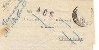 A.C.S.  20.11.1944 /  Palermo - Misilmeri - Biglietto Ancora Chiuso - Affrancatura Mancante - 5. 1944-46 Luogotenenza & Umberto II