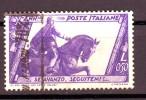 REGNO 1932 N.332 MARCIA SU ROMA  50c. VIOLETTO USATO 1 VALORE - Oblitérés