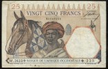 AFRIQUE OCCIDENTALE  (French West Africa)  :  25 Francs - 1942 - P27 - Stati Dell'Africa Occidentale