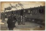Carte Postale Ancienne Ambérieu En Bugey - Réception Des Grands Blessés - Train Hôpital, Guerre, Santé - France