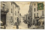 Carte Postale Ancienne Ambérieu En Bugey - Place Sanville Et Rue Centrale - France