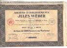 ANCIENS ETABLISSEMENTS JULES WEBER - ACTION DE 500 FRS AU PORTEUR N° 007327 - Actions & Titres