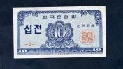 "10 Jeon   ""COREE Du SUD""  1962   UNC   Nî4 - Korea, South"