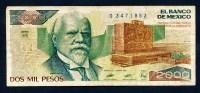 """2000 Pesos   """"MEXIQUE""""  28 Mars 1989    VF   Nî4 - México"""