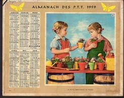 CALENDRIER GF 1959 - La Petite Marchande De Fleurs Et Le Chevalier Servant - Imp Oberthur - Calendriers