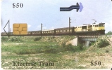 TARJETA DE ZIMBAWE DE UN TREN  (TRAIN-ZUG) - Trenes
