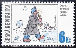 Timbre-poste Gommé Neuf** - Josef Lada's Illustration: SVEJK - N° 152 (Yvert) - République Tchèque 1997 - Repubblica Ceca