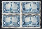 Canada Scott #227 MNH $1 Champlain Statue Block Of 4 Some Separation At Perfs - Feuilles Complètes Et Multiples