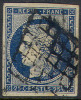 # France    6b,  Used, VF, Blue, Yellowish Paper,sound, 4 Mgns   (fr006c-2,  Michel 4c    [16-DH - 1849-1850 Ceres