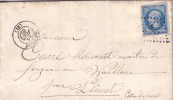 COTE DU NORD-LANNION 21 JUIN 1862 N°14 OBLITERATION PC1643 - LETTRE AVEC TEXTE. - 1849-1876: Periodo Classico