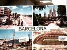 ESPANA BARCELONA  VUES E STADIO VB1963 DL257 PIEGA - Barcelona