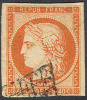 # France    7a, Used, RARE, Sound , Clean    (fr007-17,  Michel 5  [16-DGE - 1849-1850 Ceres