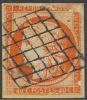 # France 7a, Used, Orange Vermillion, RARE,   (fr007a-5, Michel 5 [16-DGE - 1849-1850 Cérès