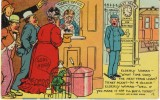 Woman Railroad Station Ticket Booth, Parrot, Train Depot Humor, C1900s Vintage Postcard - Humour