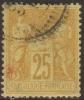 France N° 92 Obl. Cachet à Date à Cercle Pointillé - 1876-1898 Sage (Type II)