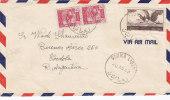 "Lebanon, Post.Hist.cover Sent 1949 "" DOUMA "" RARE Cancellation To Argentina, 2nd Verso Palestine Tax,nice Condit-scarce - Lebanon"