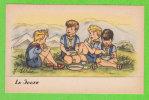 """J. IDRAC - La Soupe (Mention """"par Autorisation Spéciale Du Q.G. Scout"""" Au Verso) - Illustratoren & Fotografen"""