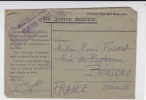 1915 - RARE ENVELOPPE De La MISSION MILITAIRE FRANCAISE En ANGLETERRE Pour BEZIERS - 1902-1951 (Kings)