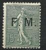 "FR Franchise YT 3 "" Semeuse Lignée 15c. Vert-olive "" 1901-04 Neuf* - Franchise Militaire (timbres)"