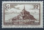 "YT 260 "" Mont-Saint-Michel 5F. Brun  Type II "" 1929-31 Neuf* - France"