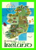 MAP - GREETINGS FROM  IRELNAD - JOHN HINDE - - Cartes Géographiques