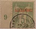 1890 Alexandrie Type Sage De France Sché 5 Centimes  Oblitéré  Alexandrie YT 5  Côte Dallay 4,00 € Millésime - Zonder Classificatie