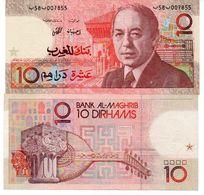 Morocco Banknote 10 Dirhams 1987 P-60 VF King Hassan II - Marocco