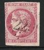 """YT 49 """" Cérès 80c. Rose """" 1870 Oblitéré - 1870 Bordeaux Printing"""