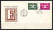 GRIECHENLAND Mi.Nr. 821-822 EUROPA CEPT- 1963- FDC - Europa-CEPT