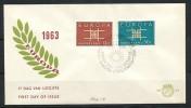 NIEDERLANDE Mi.Nr. 806-807 EUROPA CEPT- 1963- FDC - Europa-CEPT