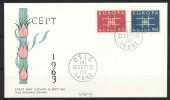 NORWEGEN Mi.Nr. 498-499 EUROPA CEPT- 1963- FDC - Europa-CEPT